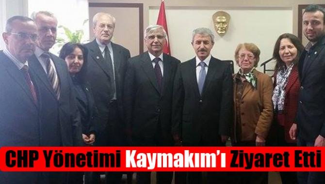 Akhisar CHP Yönetimi Kaymakım'ı Ziyaret Etti