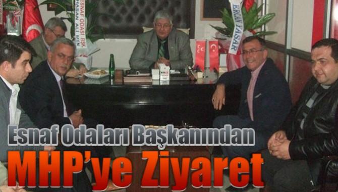 Esnaf Odaları Başkanından MHP'ye Ziyaret