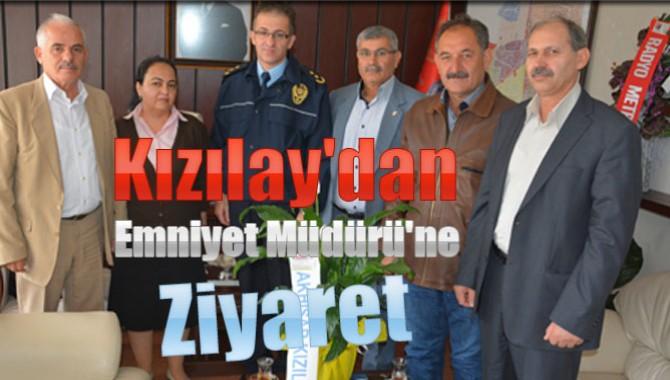 Kızılay'dan Emniyet Müdürü'ne Ziyaret