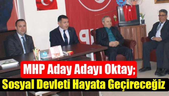 MHP Aday Adayı Oktay; Sosyal Devleti Hayata Geçireceğiz