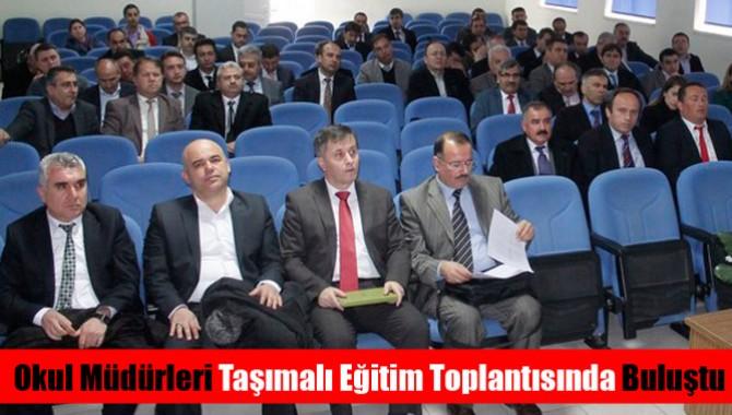 Okul Müdürleri Taşımalı Eğitim Toplantısında Buluştu