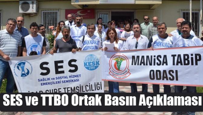 SES ve TTBO Ortak Basın Açıklaması