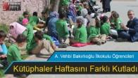 A. Vehbi Bakırlıoğlu İlkokulu Öğrencileri Kütüphaler Haftasını Farklı Kutladı