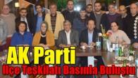 AK Parti Akhisar İlçe Teşkilatı Basınla Buluştu
