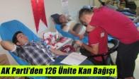 AK Parti'den 126 Ünite Kan Bağışı