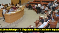 Akhisar Belediyesi 1. Olağanüstü Meclis Toplantısı Yapıldı