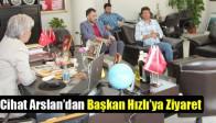 Akhisar Belediyespor Teknik Direktörü Cihat Arslan'dan Başkan Hızlı'ya Ziyaret