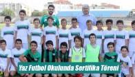 Akhisar Belediyespor Yaz Futbol Okulunda Sertifika Töreni