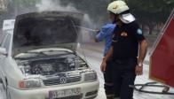 Akhisar'da Araç Alev Aldı