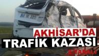 Akhisar'da Trafik Kazası 2 Yaralı