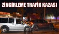 Akhisar'da zincirleme kaza: 6 yaralı