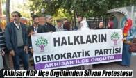 Akhisar HDP İlçe Örgütünden Silvan Protestosu