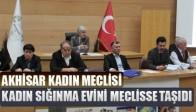 Akhisar Kadın Meclisi Kadın Sığınma Evini Meclisse Taşıdı