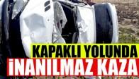 Akhisar Kapaklı Mevkiinde Feci Kaza