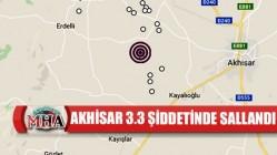 Akhisar'da 3.3 şiddetinde deprem meydana geldi