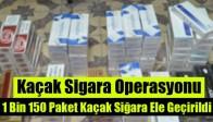 Akhisar'da Kaçak Sigara Operasyonu