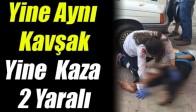 Akhisar'da Yine O Kavşak 2 Yaralı