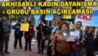 Akhisarlı Kadın Dayanışma Grubu Basın Açıklaması