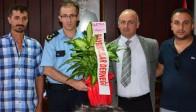 Bayburtlular, Emniyet Müdürü Eğin Pınar'ı Ziyaret Etti