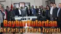 Bayburtlulardan, AK Parti'ye Tebrik Ziyareti