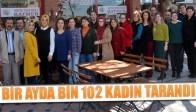 Bir Ayda Bin 102 Kadın Tarandı