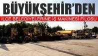 Büyükşehir'den İlçe Belediyelerine İş Makinesi Filosu