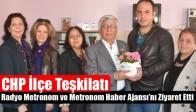 CHP İlçe Teşkilatı, Metronom Haber Ajansı'nı Ziyaret Etti