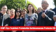(CHP) İlçe Teşkilatı Protokolün Katılmamasını Protesto Etti