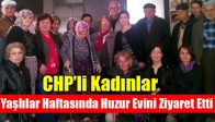 CHP'li Kadınlar Yaşlılar Haftasında Huzur Evini Ziyaret Etti