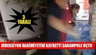 Direksiyon Hakimiyetini Kaybetti Şarampole Uçtu 3 Yaralı