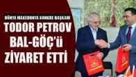 Dünya Makedonya Kongre Başkanı Todor Petrov BAL-GÖÇ'ü Ziyaret Etti