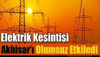 Elektrik Kesintisi Akhisar'ı Olumsuz Etkiledi