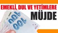 EMEKLİ, DUL VE YETİMLERE MÜJDE!