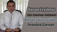 Eryılmaz Türk Veteriner Hekimleri Merkez Konseyine Yeniden Giriyor