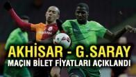 Akhisarspor, Galatasaray maçının bilet fiyatları belli oldu