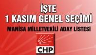 İşte Manisa CHP'de 1 Kasım Genel Seçim Milletvekili Lisesi