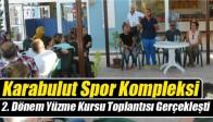Karabulut Spor Kompleksi 2. Dönem Yüzme Kursu Toplantısı Gerçekleşti