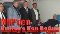 MHP'den Kızılay'a Kan Bağışı