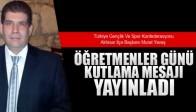 Murat Yavaş, Öğretmenler Günü Mesajı Yayınladı