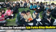Öğrenciler Farkındalık İçin Parkta Kitap Okudular