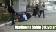 Öğrenciler Okuluna Sahip Çıkıyor