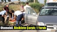 Otomobil, Bisiklete Çarptı; 1 Yaralı