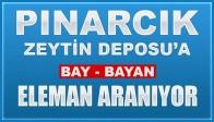 Pınarcık Zeytin Deposun'a Eleman Aranıyor