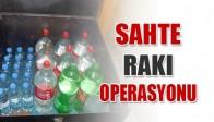 Salihli'de Sahte Rakı Operasyonu