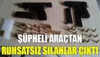 Şüpheli Araçtan Ruhsatsız Silahlar Çıktı