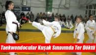 Taekwondocular Kuşak Sınavında Ter Döktü