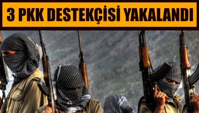 3 PKK Destekçisi Terörist Tutuklandı