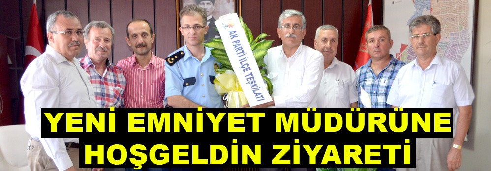 AK Parti'den Yeni İlçe Emniyet Müdürüne Ziyaret