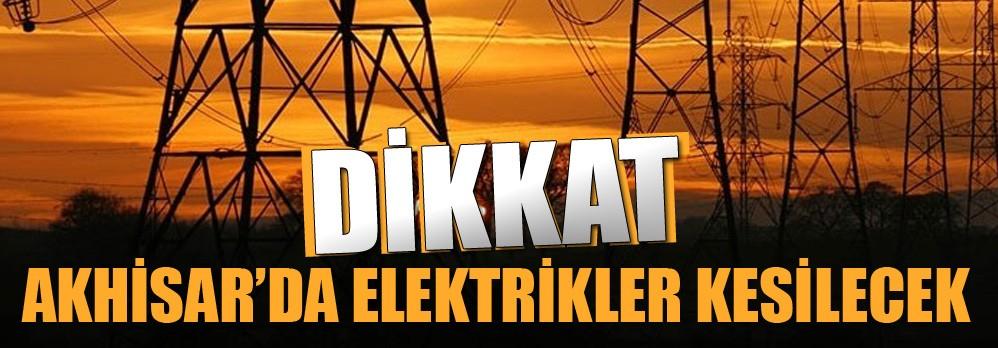 Akhisar'da 29 Kasım'da Elektrikler Kesilecek