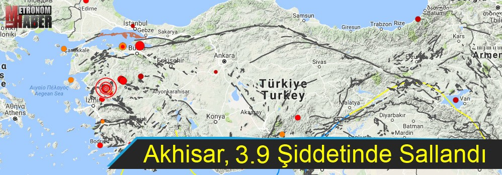 Akhisar 3.9 şiddetindeki depremle Sallandı